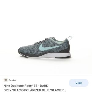 Nike Dual tone racer se glacial gray/blue sz 3/5